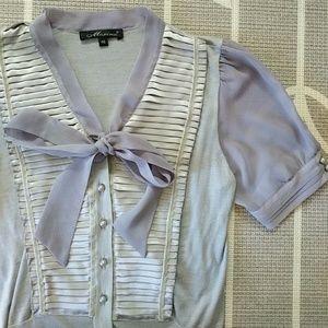 Silk, Cotton and Cashmere Blend Vintage Blouse